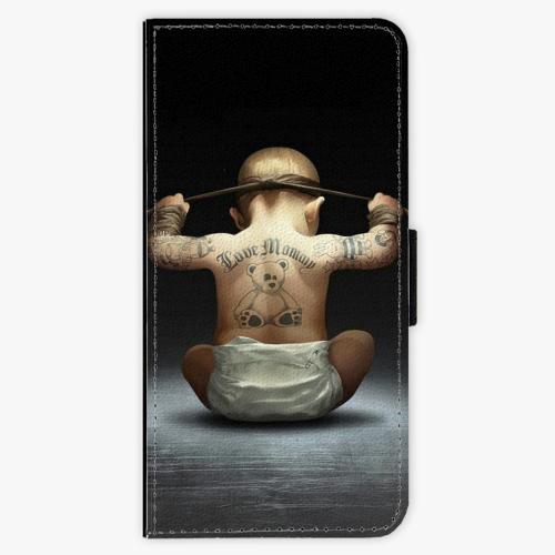 Flipové pouzdro iSaprio - Crazy Baby - Samsung Galaxy A3 2017