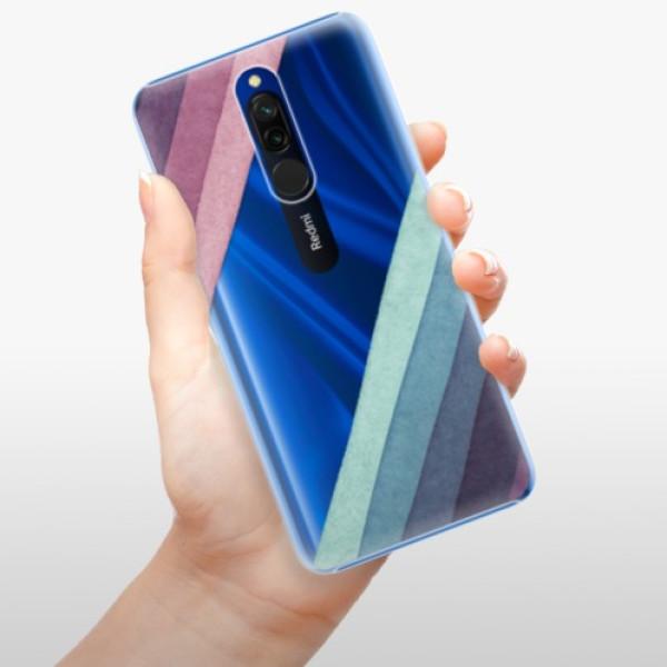 Plastové pouzdro iSaprio - Glitter Stripes 01 - Xiaomi Redmi 8