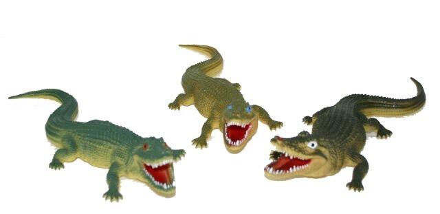Krokodýl 3 druhy 38 cm