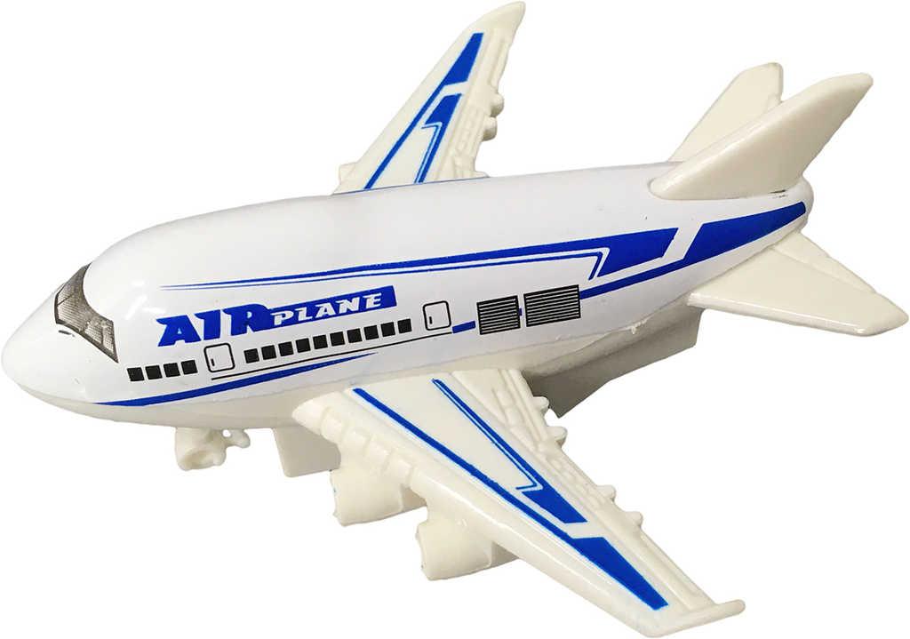 Letadlo osobní kovové 9cm zpětný chod 3 barvy