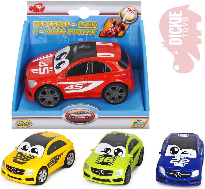 DICKIE Auto Happy Mercedes 11cm veselá závodnička s očima - 4 barvy