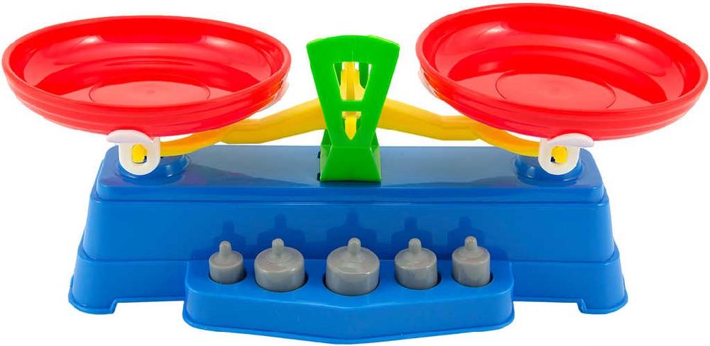Váha dětská kuchyňská barevná 28cm set se závažím v sáčku plast