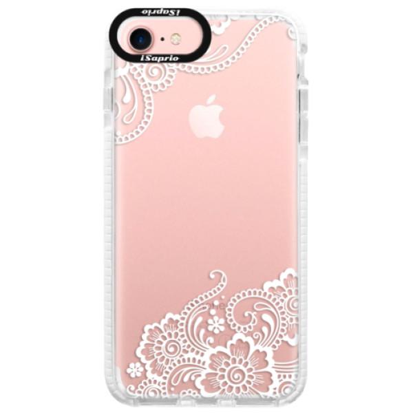 Silikonové pouzdro Bumper iSaprio - White Lace 02 - iPhone 7