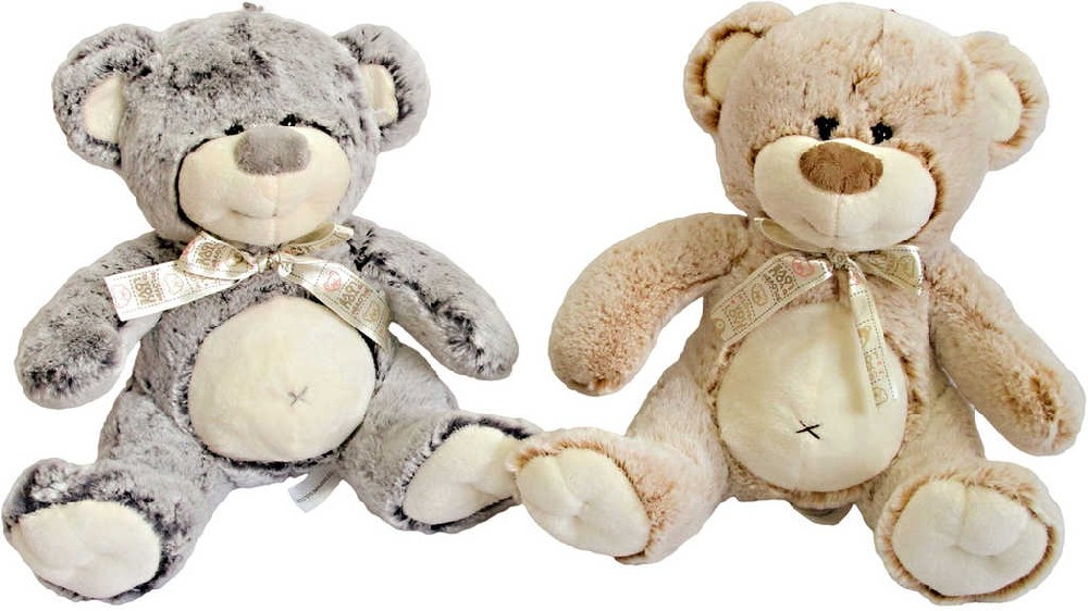 PLYŠ Medvídek s mašlí 29 cm - 2 barvy