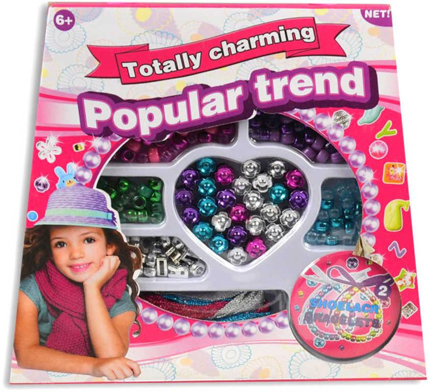 Korálky navlékací kreativní set dětská bižuterie v krabičce