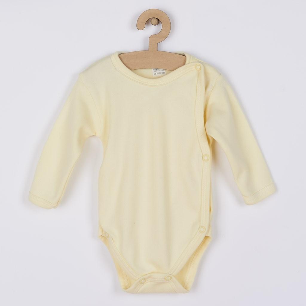 Kojenecké body celorozepínací New Baby Classic - žlutá/62 (3-6m)