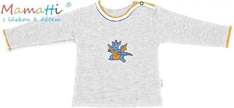 Tričko/košilka dl.rukáv Mamatti - Drak - 86 (12-18m)