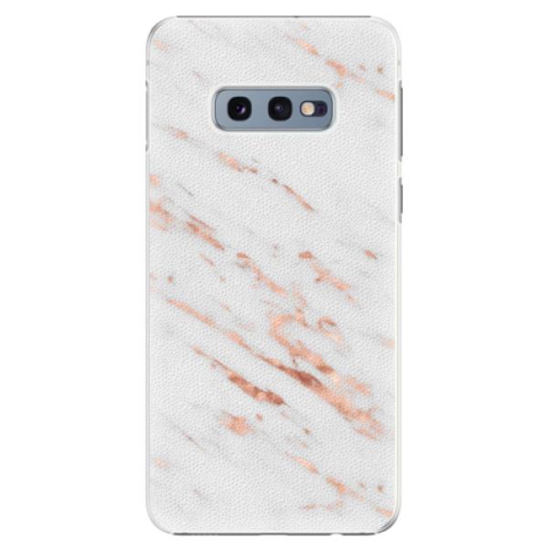 Plastové pouzdro iSaprio - Rose Gold Marble - Samsung Galaxy S10e