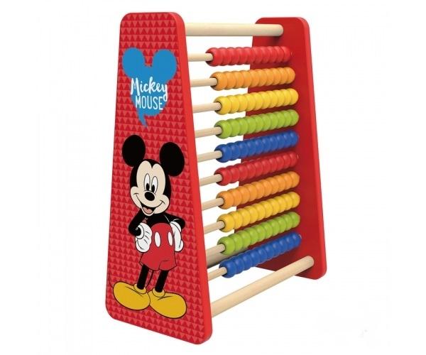 Krásné dřevěné dětské Disney počítadlo Mickey, 27 x 14 x 32 cm