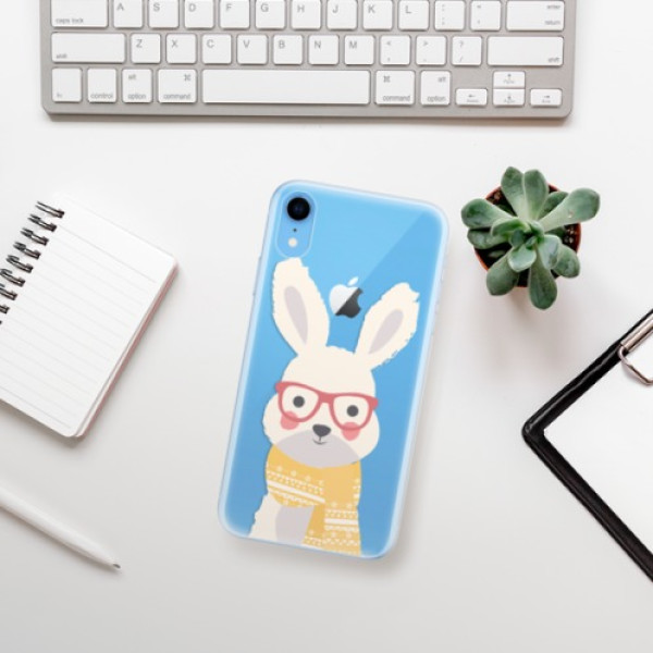 Odolné silikonové pouzdro iSaprio - Smart Rabbit - iPhone XR