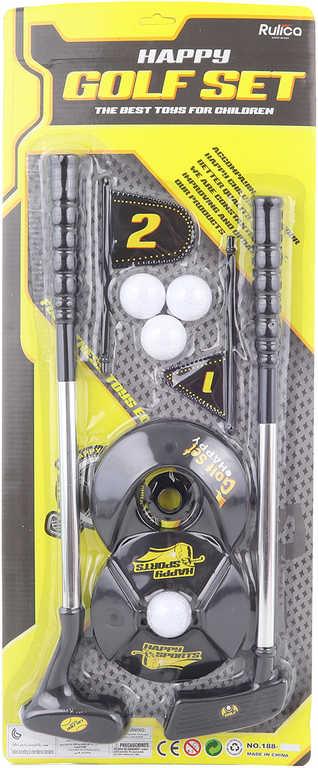 Sada na golf set 2 hole se 4 míčky a 2 jamkami v krabici