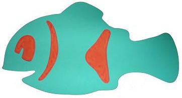 MATUŠKA-DENA Deska plavací rybka Nemo 40x22cm zelená 2 barvy