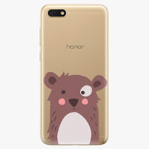 Silikonové pouzdro iSaprio - Brown Bear - Huawei Honor 7S