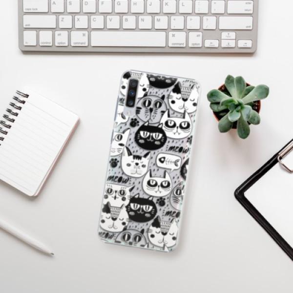 Plastové pouzdro iSaprio - Cat pattern 03 - Samsung Galaxy A70