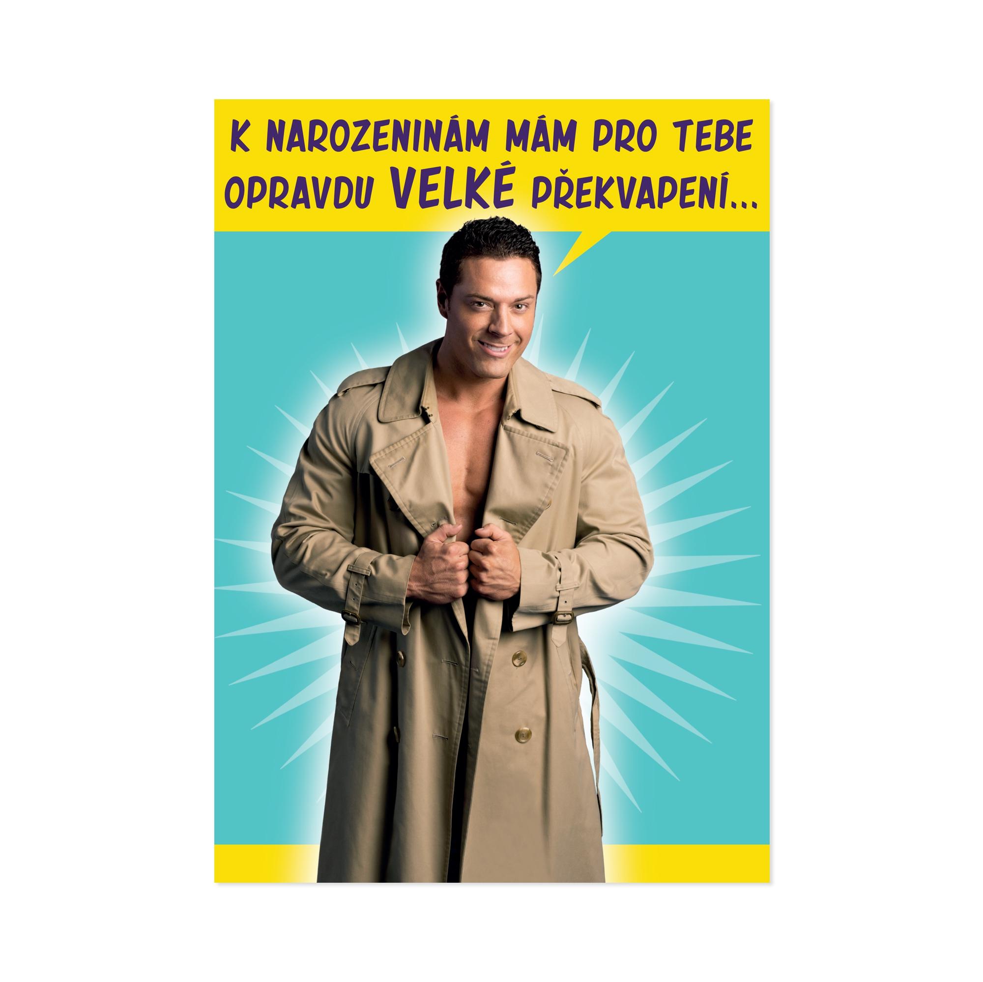 ALBI Přání P - Chlap s kabátem