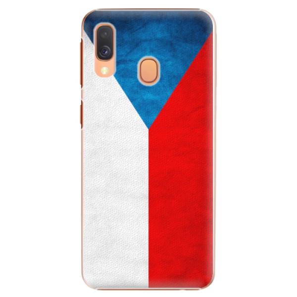 Plastové pouzdro iSaprio - Czech Flag - Samsung Galaxy A40
