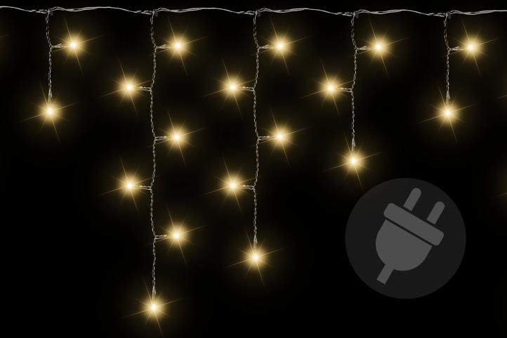 Vánoční světelný déšť 400 LED teple bílá - 7,8 m