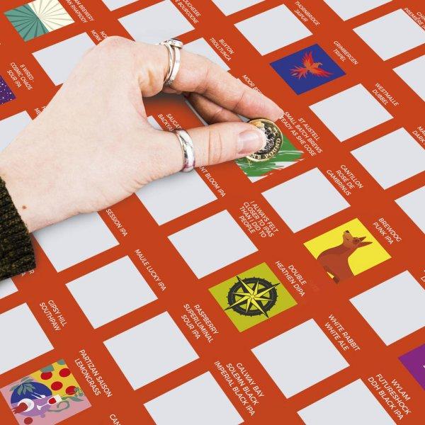 Stírací plakát 100 nejlepších pivních speciálů - Bucket list