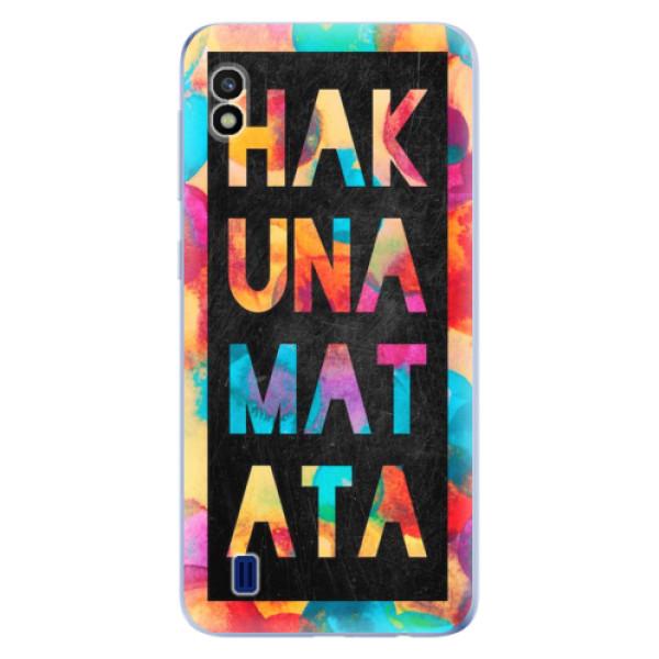 Odolné silikonové pouzdro iSaprio - Hakuna Matata 01 - Samsung Galaxy A10