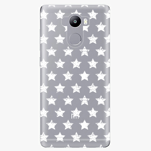 Plastový kryt iSaprio - Stars Pattern - white - Xiaomi Redmi 4 / 4 PRO / 4 PRIME
