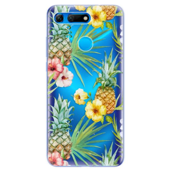 Odolné silikonové pouzdro iSaprio - Pineapple Pattern 02 - Huawei Honor View 20