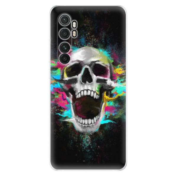 Odolné silikonové pouzdro iSaprio - Skull in Colors - Xiaomi Mi Note 10 Lite