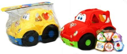 Vkládačka auto plastová s kostkami