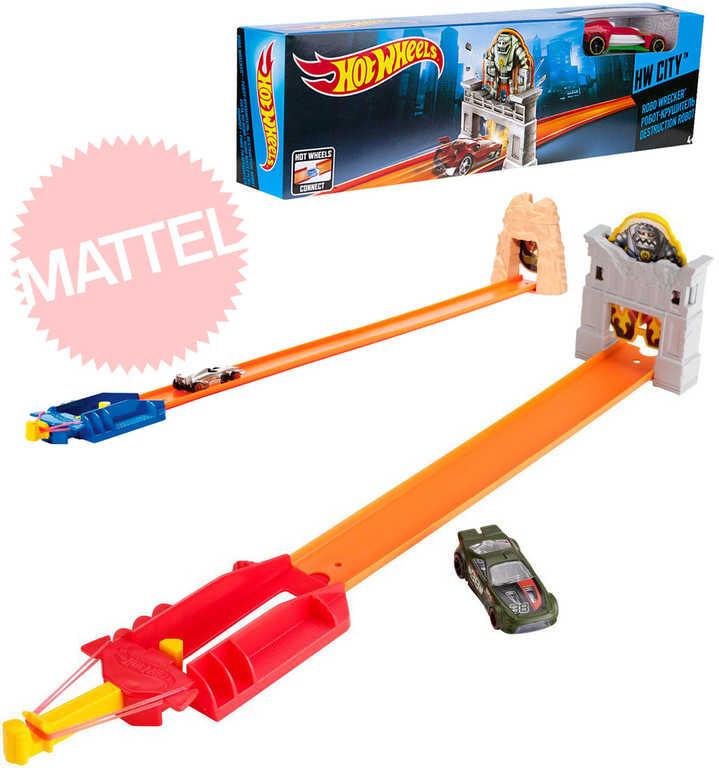 MATTEL HOT WHEELS Ohromný skok herní set dráha + autíčko 2 druhy