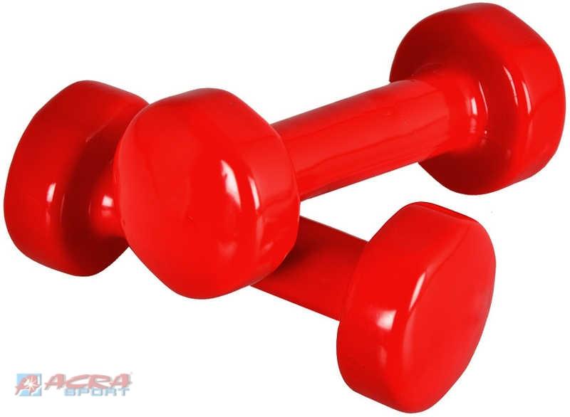 ACRA Činky 2 kusy x 2 kg jednoruční na cvičení