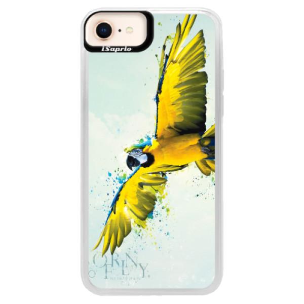 Neonové pouzdro Blue iSaprio - Born to Fly - iPhone 8