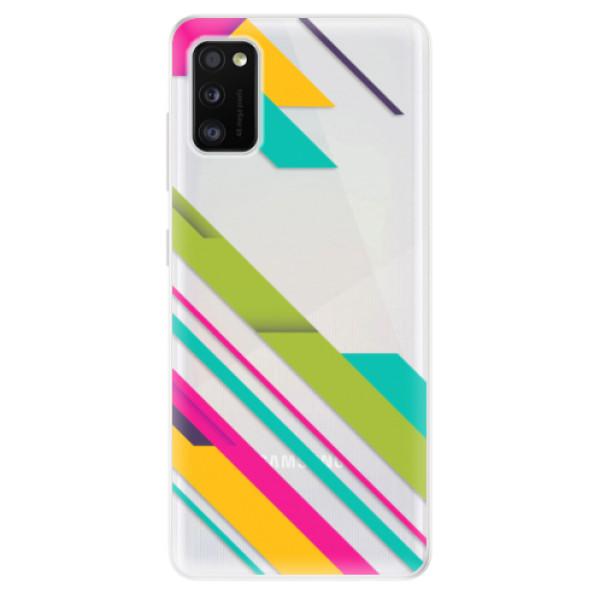 Odolné silikonové pouzdro iSaprio - Color Stripes 03 - Samsung Galaxy A41