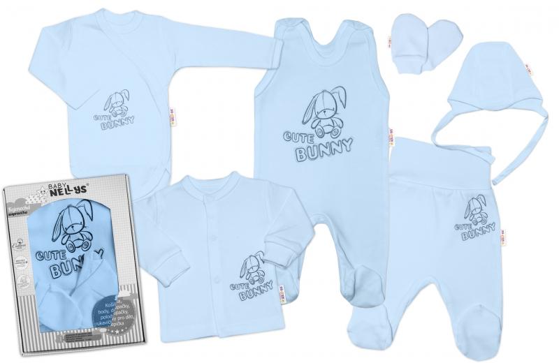 baby-nellys-velka-sada-do-porodnice-cute-bunny-6-ti-dilna-v-krabicce-modra-vel-62-62-2-3m