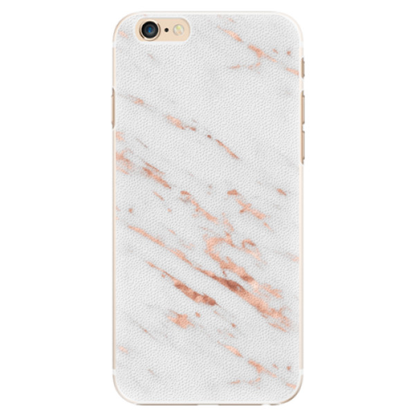 Plastové pouzdro iSaprio - Rose Gold Marble - iPhone 6/6S