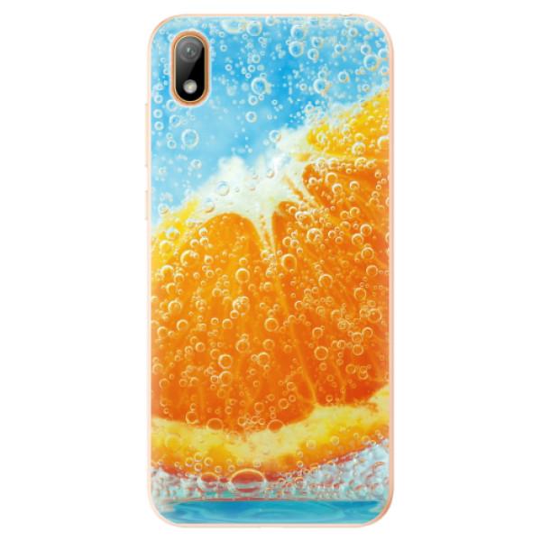Odolné silikonové pouzdro iSaprio - Orange Water - Huawei Y5 2019