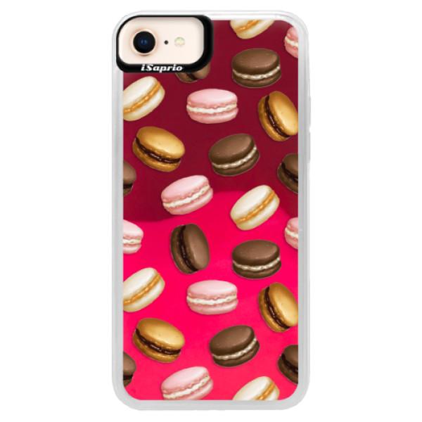 Neonové pouzdro Pink iSaprio - Macaron Pattern - iPhone 8