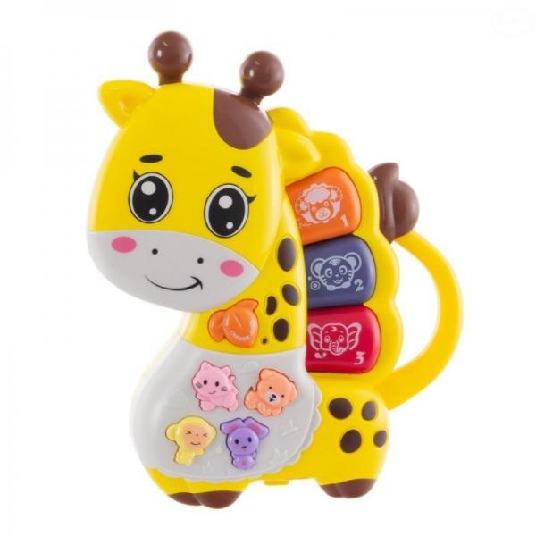 Euro Baby Interaktivní hračka s melodii pianko - hrající Žirafka, žlutá
