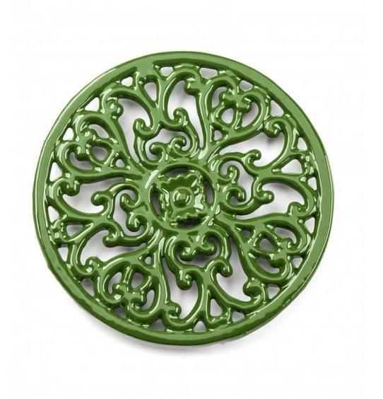 Podložka pod hrnec - smaltovaná zelená
