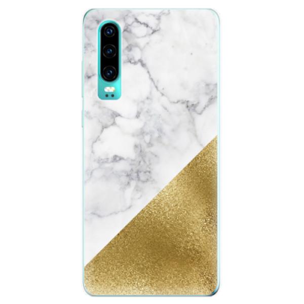 Odolné silikonové pouzdro iSaprio - Gold and WH Marble - Huawei P30