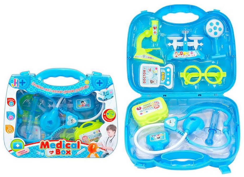 Doktorka v modrém kufříku set dětské lékařské potřeby plast
