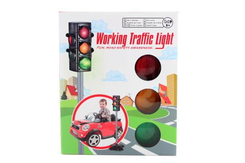 Světelný semafor baterie