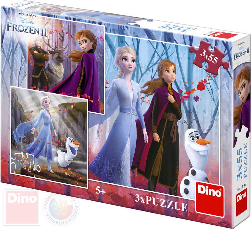 DINO Puzzle 3x55d Frozen II ;