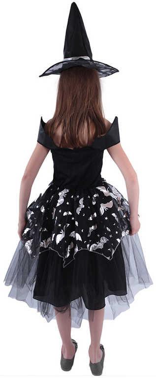 KARNEVAL Šaty čarodějka netopýrka vel.S 3-5 let (104-113 cm) *KOSTÝM*