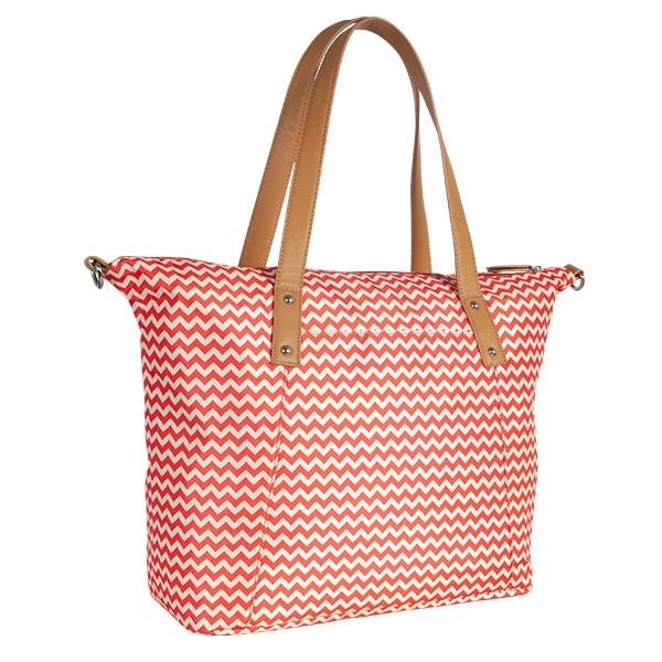 Přebalovací taška ke kočárku - červená/zigzag