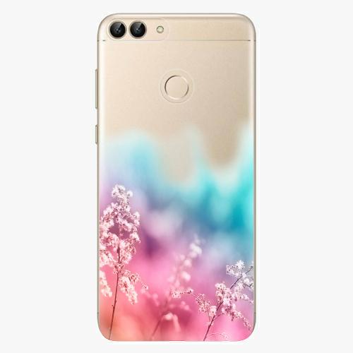 Silikonové pouzdro iSaprio - Rainbow Grass - Huawei P Smart