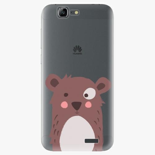 Plastový kryt iSaprio - Brown Bear - Huawei Ascend G7