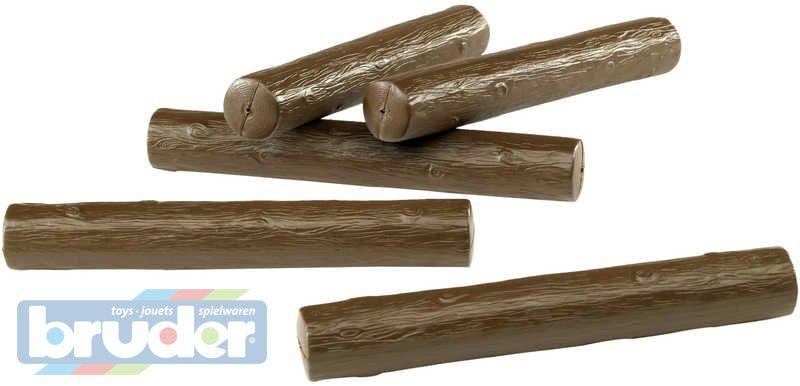 BRUDER 02343 (2343) Kulatina Dřevěné klády Dřevo 5 ks