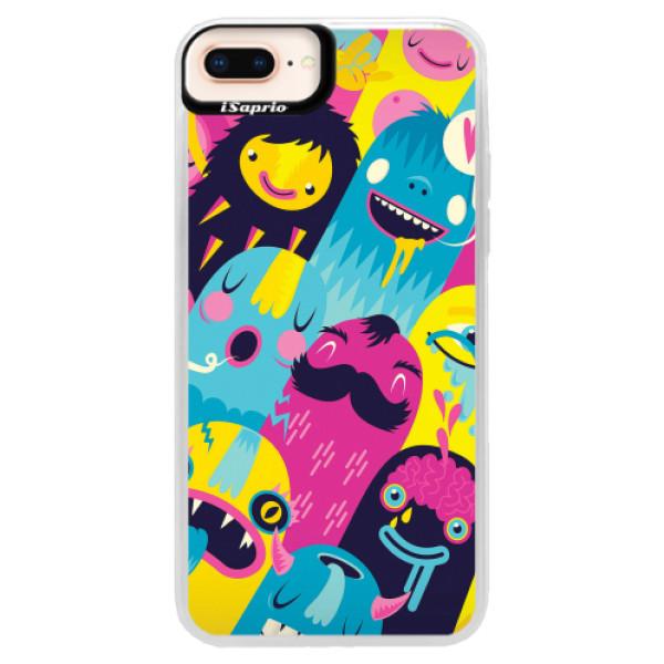 Neonové pouzdro Pink iSaprio - Monsters - iPhone 8 Plus
