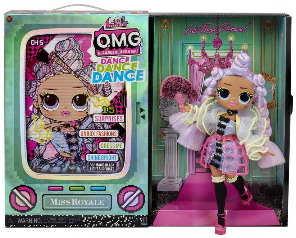 L.O.L. Surprise! OMG Velká ségra Dance MISS ROYALE panenka 15 překvapení