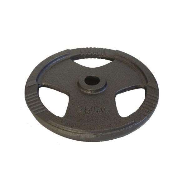 kotouc-olymp-litina-25kg-silver-tri-grip