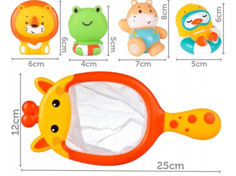 Tulimi Hračky do vody Žirafka se síťkou - 4 ks